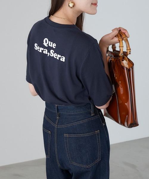 tシャツ Tシャツ お得 バックプリント 売り込み WhateverロゴプリントTee