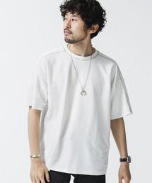 tシャツ Tシャツ 《WEB限定》カラーステッチワッフルワイドTシャツ ZOZOTOWN PayPayモール店