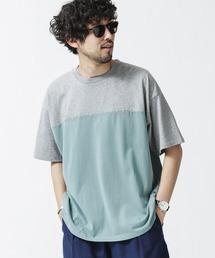 tシャツ Tシャツ 《WEB限定》バイカラー切替プリントワイドTシャツ ZOZOTOWN PayPayモール店
