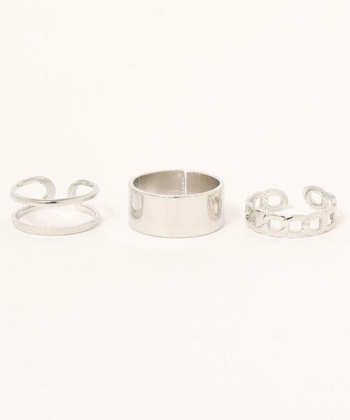 指輪 14BURNER SELECT 全品送料無料 シルバープレーティングリング3点セット 再再販