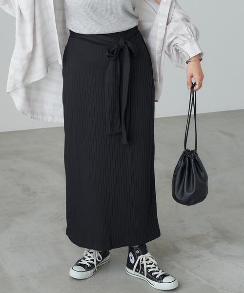 スカート ◆セール特価品◆ 贈り物 リブリラックスタイトスカート