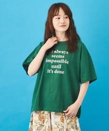 tシャツ Tシャツ 綿麻 スラブ天竺 ロゴプリントTシャツ|ZOZOTOWN PayPayモール店