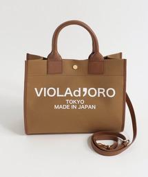 トートバッグ バッグ VIOLA'dORO(ヴィオラドーロ)/V1347CV1347C キャンバスロゴトートBAG☆S ZOZOTOWN PayPayモール店