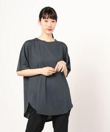 tシャツ Tシャツ ゆったりシルエット 接触冷感機能付き チュニック丈半袖Tシャツ|ZOZOTOWN PayPayモール店