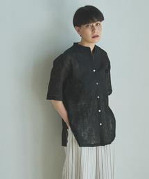 シャツ ブラウス 【Liyoca】バンドカラーレースシャツ|ZOZOTOWN PayPayモール店