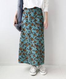 スカート レーヨンフラワープリントストレートスカート◆ ZOZOTOWN PayPayモール店