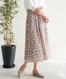 スカート barkcloth flower タックスカート|ZOZOTOWN PayPayモール店