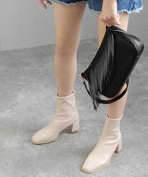 ブーツ スクエアトゥタイトショートブーツ ◆ ZOZOTOWN PayPayモール店