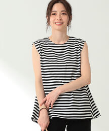 tシャツ Tシャツ Demi-Luxe BEAMS / ボーダー フレンチスリーブ プルオーバー|ZOZOTOWN PayPayモール店