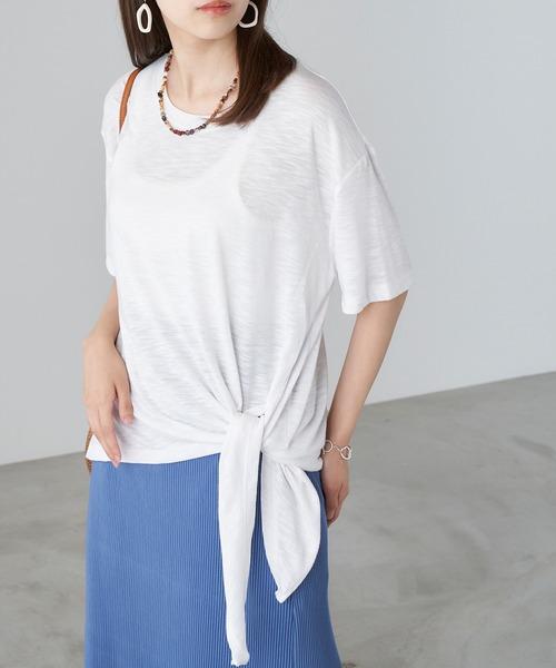 tシャツ Tシャツ 70%OFFアウトレット 人気ブランド 2WAYスラブ風サイドスリットカットソー
