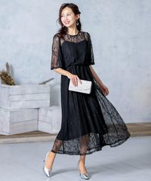 ドレス 総レース膝丈 ワンピースドレス|ZOZOTOWN PayPayモール店