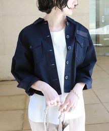 ジャケット ミリタリージャケット チノツイル オーバーサイズ ミリタリー シャツジャケット ZOZOTOWN PayPayモール店