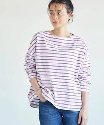 tシャツ Tシャツ ヘビーウエイトボーダーボートネックプルオーバー *●|ZOZOTOWN PayPayモール店