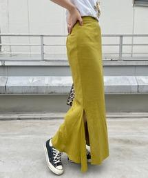 スカート ≪肌当たりが心地よい≫リネン混スリットマーメイドスカート|ZOZOTOWN PayPayモール店