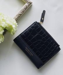 財布 フェイクレザークロコ風型押しミニウォレット 三つ折りコンパクト折りたたみミニ財布|ZOZOTOWN PayPayモール店