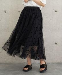 スカート lalaBorn/フロッキーチュールスカート ZOZOTOWN PayPayモール店