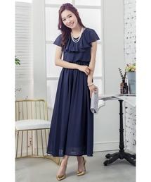 ドレス とろみシフォンロングドレス|ZOZOTOWN PayPayモール店