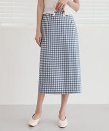 スカート シンプルHラインギンガムチェックロングスカート|ZOZOTOWN PayPayモール店