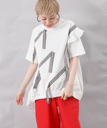tシャツ Tシャツ AVIE × LC/LLL テープデザインプルオーバー ZOZOTOWN PayPayモール店