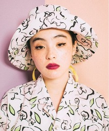 帽子 ハット LittleSunnyBite/リトルサニーバイト/little sunny bite×ogura akane floral print|ZOZOTOWN PayPayモール店