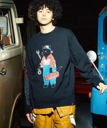 tシャツ Tシャツ 【 NISSAN×go slow caravan 】USA/C RALLYメカニック猫 ロングスリーブTEE|ZOZOTOWN PayPayモール店