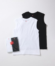 tシャツ Tシャツ 【Hanes for BIOTOP】Sleeveless T-Shirts/white×black|ZOZOTOWN PayPayモール店
