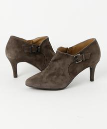 ブーツ L'avenue / 14816 / ポインテッドスエードベルトブーティ|ZOZOTOWN PayPayモール店