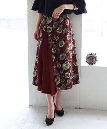 スカート REAL CUBE レトロフラワーサイドシフォンスカート|ZOZOTOWN PayPayモール店