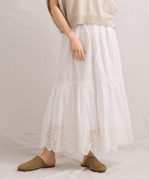 スカート 【Liyoca】コットンレースロングスカート|ZOZOTOWN PayPayモール店