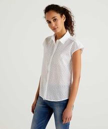 シャツ ブラウス エンブロイダリー刺繍フレンチスリーブシャツ・ブラウス|ZOZOTOWN PayPayモール店