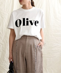 tシャツ Tシャツ OliveフロッキーロゴプリントTシャツ|ZOZOTOWN PayPayモール店