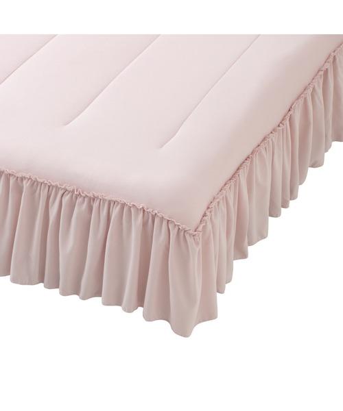 ベッド 寝具 2021年モデル ふわろ ベッドパッド シングル ピンク バースデー 記念日 ギフト 贈物 新色追加 お勧め 通販 フリル