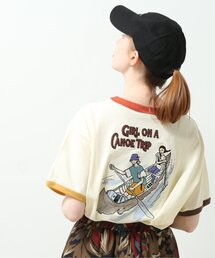tシャツ Tシャツ カヌーガールズBACK刺繍リンガーTEE|ZOZOTOWN PayPayモール店
