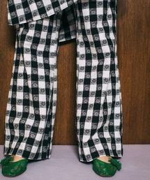 パンツ LittleSunnyBite/リトルサニーバイト/original flower block check pants|ZOZOTOWN PayPayモール店