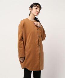 ジャケット ノーカラージャケット 【Km】DETAILS women/ノーカラーコクーンコート|ZOZOTOWN PayPayモール店