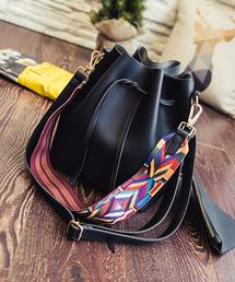ショルダーバッグ バッグ かわいい巾着型 無地フェイクレザーショルダーバッグ(巾着バッグ)|ZOZOTOWN PayPayモール店