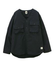 シャツ ブラウス COBMASTER/コブマスター  ツイル裏ガーゼノーカラーシャツ|ZOZOTOWN PayPayモール店