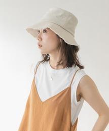 帽子 ハット F by ROSSO 綿麻フリンジハット|ZOZOTOWN PayPayモール店