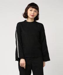 tシャツ Tシャツ 起毛ワイドリブベロアラインTOPS|ZOZOTOWN PayPayモール店
