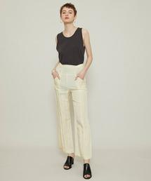 パンツ 【muller of yoshiokubo(ミュラーオブヨシオクボ)】Luster straight pants/ラスターストレートパンツ M|ZOZOTOWN PayPayモール店
