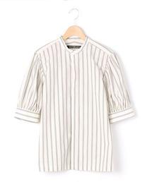 シャツ ブラウス 【HAVERSACK】〈別注〉ギャザースリーブシャツ WHITE WOMEN|ZOZOTOWN PayPayモール店