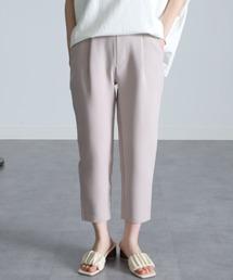パンツ スラックス [低身長サイズ有]美脚シルエットタックテーパードパンツ(クロップド丈)|ZOZOTOWN PayPayモール店