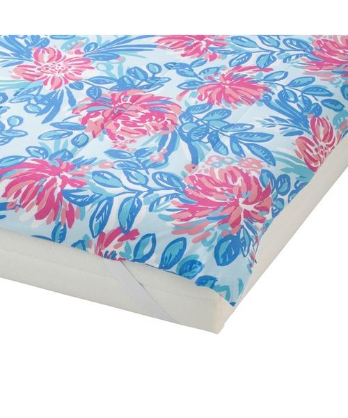 ベッド 寝具 今季も再入荷 国際ブランド 2021年モデル ふわろ ダブル マルチ トロピカルフラワー ベッドパッド