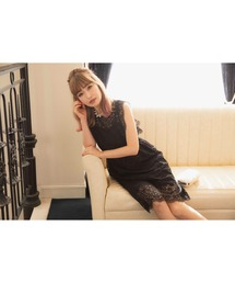 ドレス 平子理沙プロデュース『RIRIBAE/リリベ』スカラップレースノースリーブフレアのワンピースドレス|ZOZOTOWN PayPayモール店