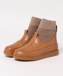 ブーツ 異素材コンビショートブーツ|ZOZOTOWN PayPayモール店