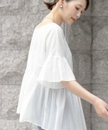 tシャツ Tシャツ F by ROSSO コットンボイル切替ギャザーブラウス|ZOZOTOWN PayPayモール店