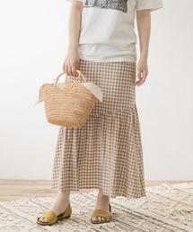 スカート F by ROSSO ギンガムチェックマーメイドスカート|ZOZOTOWN PayPayモール店