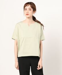 tシャツ Tシャツ SHELTECH シルケットキーネックカットソー ZOZOTOWN PayPayモール店