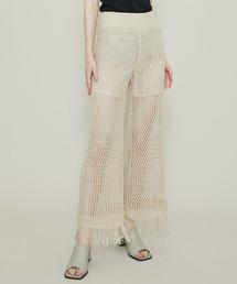 パンツ 【muller of yoshiokubo(ミュラーオブヨシオクボ)】 Lattice fringe pants/ラティスフリンジパンツ ML|ZOZOTOWN PayPayモール店