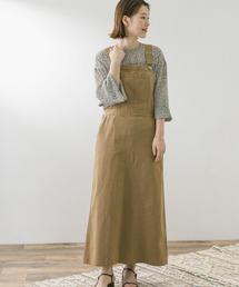 ワンピース ジャンパースカート F by ROSSO チノジャンパースカート|ZOZOTOWN PayPayモール店